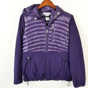 FREE COUNTRY Purple Quilted Hooded Puffer Jacket L